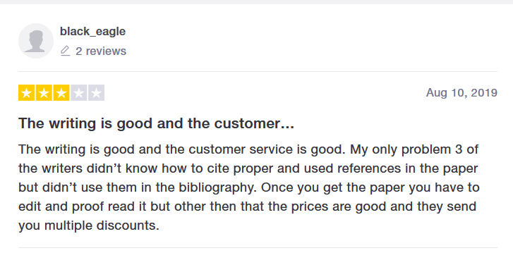 Writemypaper4me.org Customer reviews