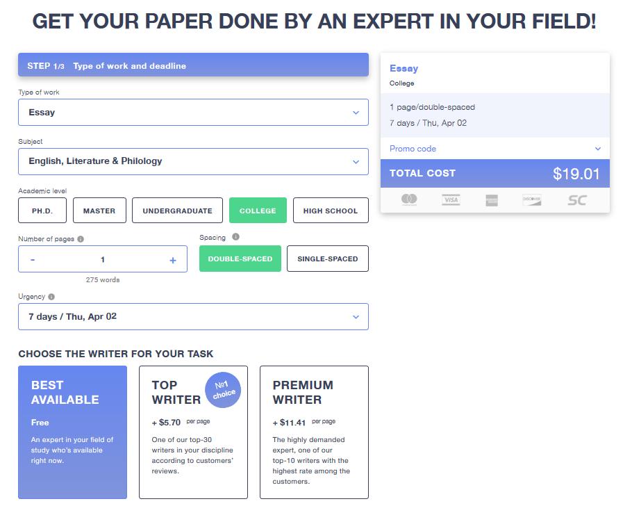 Masterpapers.com Order form