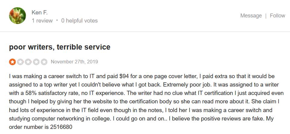 Masterpapers.com Customer reviews