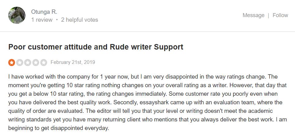 Essayshark.com Customer reviews