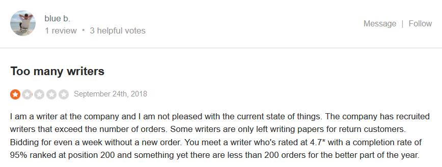 Essaypro.com Customer reviews