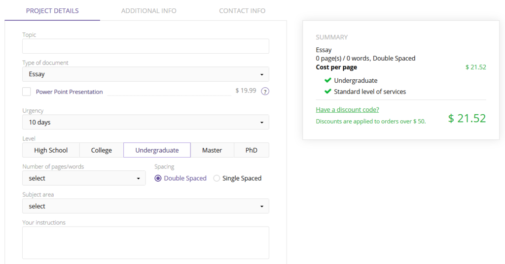 Bestessays.com Order form