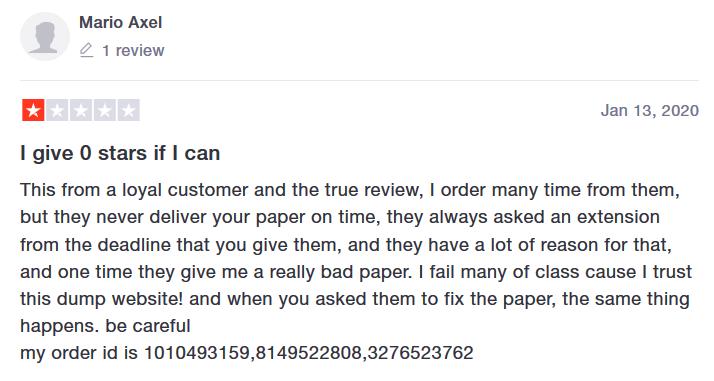 Academized.com Customer reviews